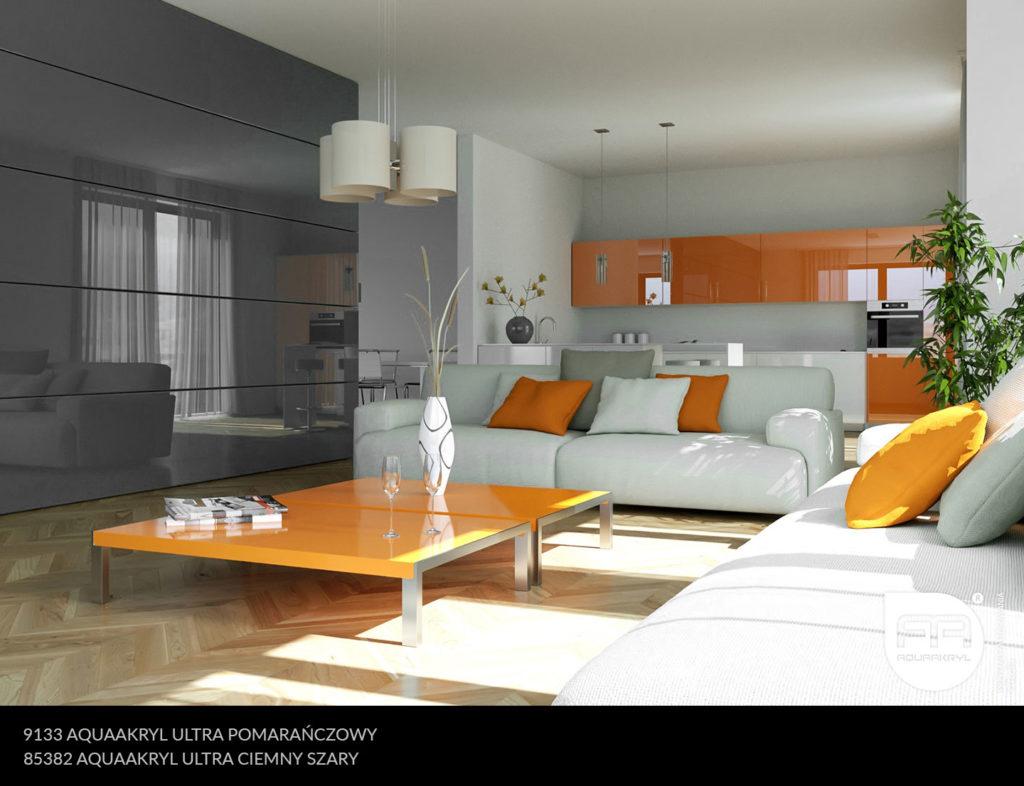 inspiracja front akrylowy aquaakryl pomarańczowy ultra 9133 ciemny szary ultra 85382