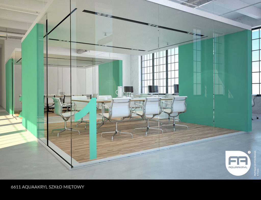 inspiracja front akrylowy aquaakryl miętowy szkło 6611