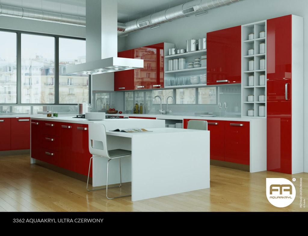inspiracja front akrylowy aquaakryl czerwony ultra 3362