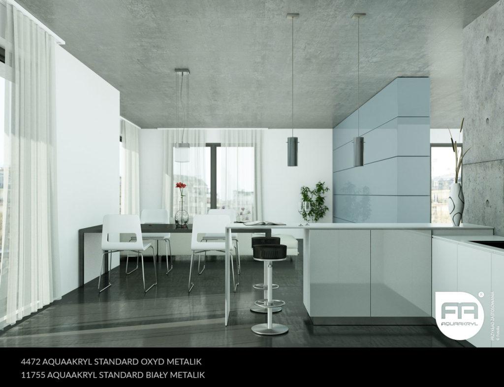 inspiracja front akrylowy aquaakryl oxyd metalik standard 4472 biały metalik standard 11755