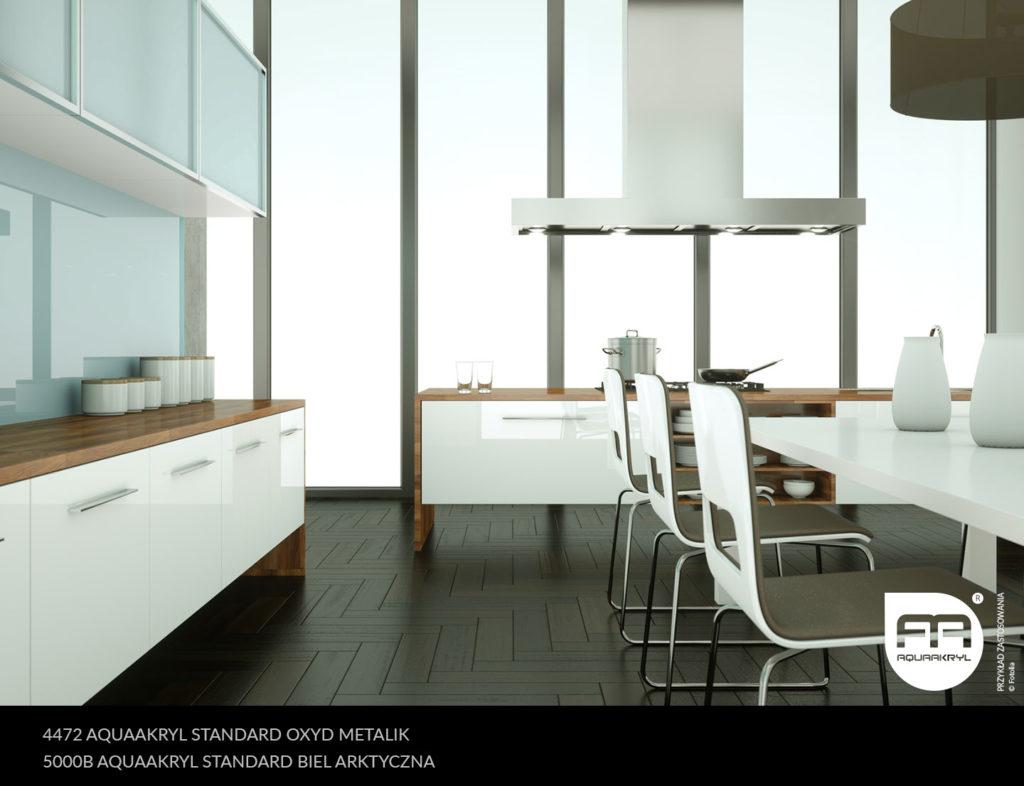 inspiracja front akrylowy aquaakryl oxyd metalik standard 4472 biel arktyczna standard 5000B