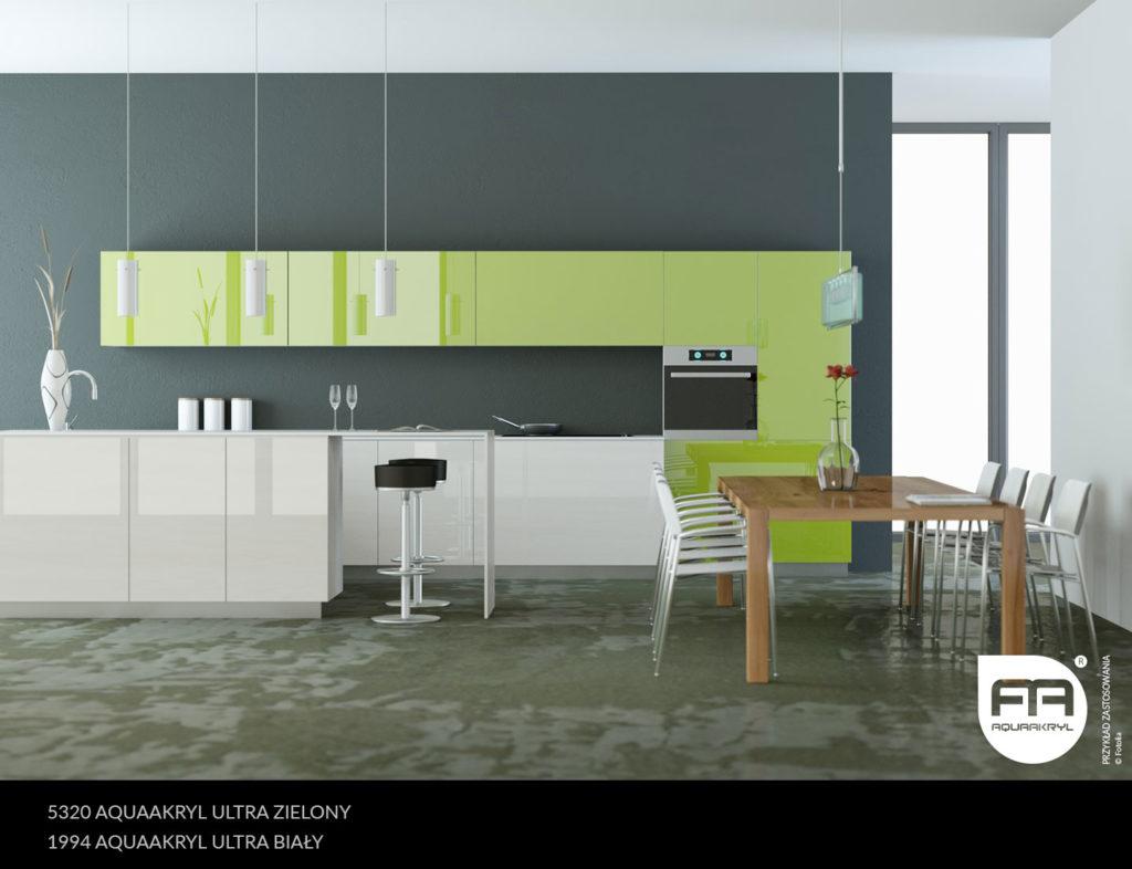 inspiracja front akrylowy aquaakryl zielony ultra 5320 biały ultra 1994