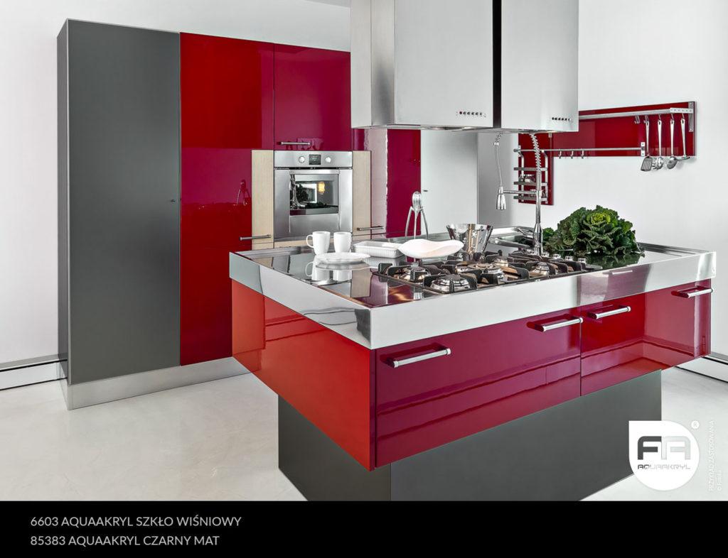 inspiracja front akrylowy aquaakryl wiśniowy szkło 6603 czarny mat 85383