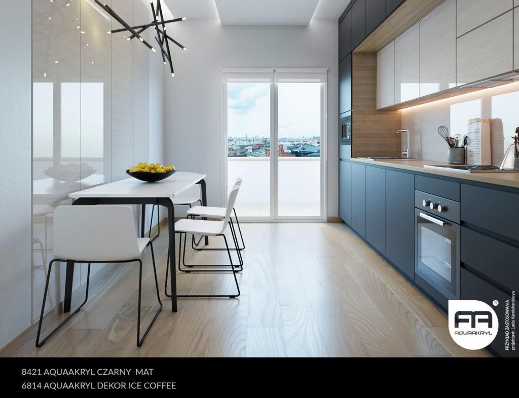 inspiracja front akrylowy aquaakryl czarny mat 8421 ice coffee dekor 6814