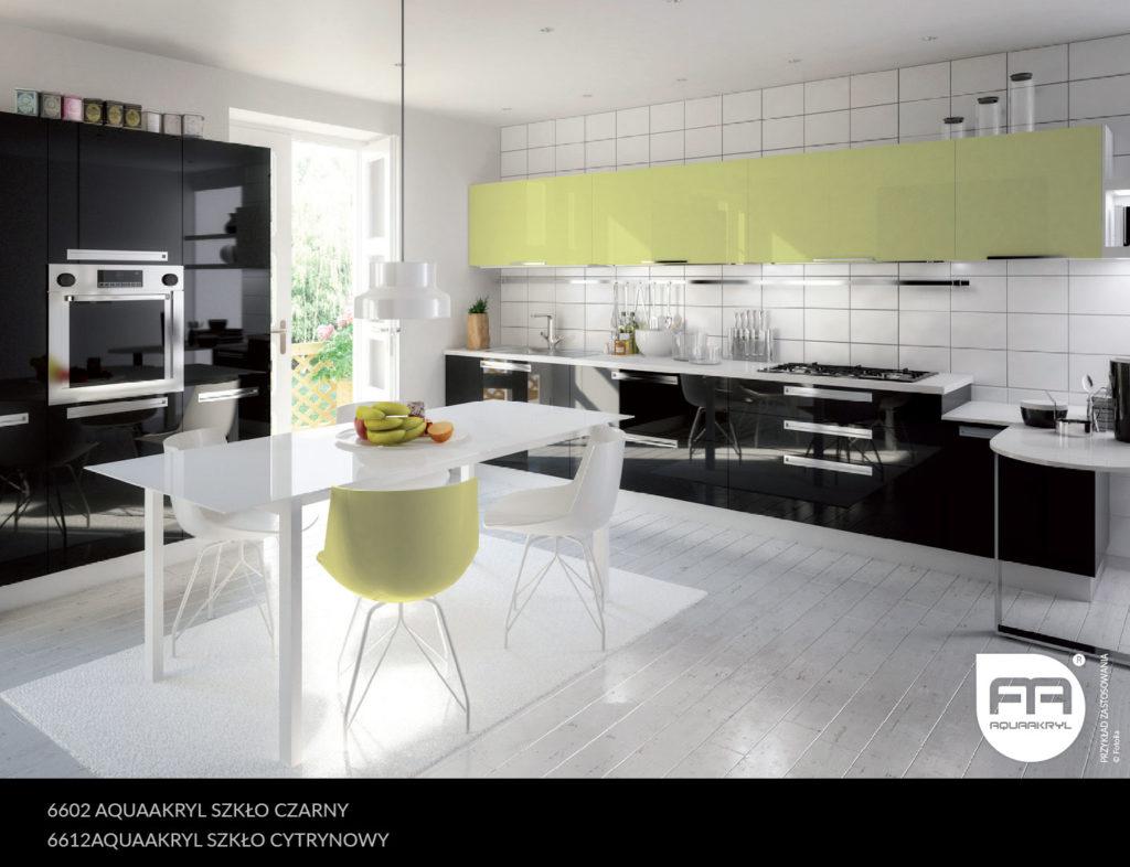 inspiracja front akrylowy aquaakryl czarny szkło 6602 cytrynowy szkło 6612