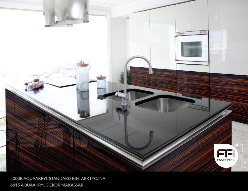 inspiracja front akrylowy aquaakryl biel arktyczna standard 5000B makassar dekor 6815