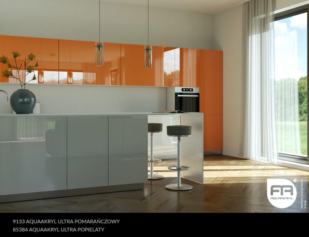 inspiracja front akrylowy aquaakryl pomarańczowy ultra 9133 popielaty ultra 85384