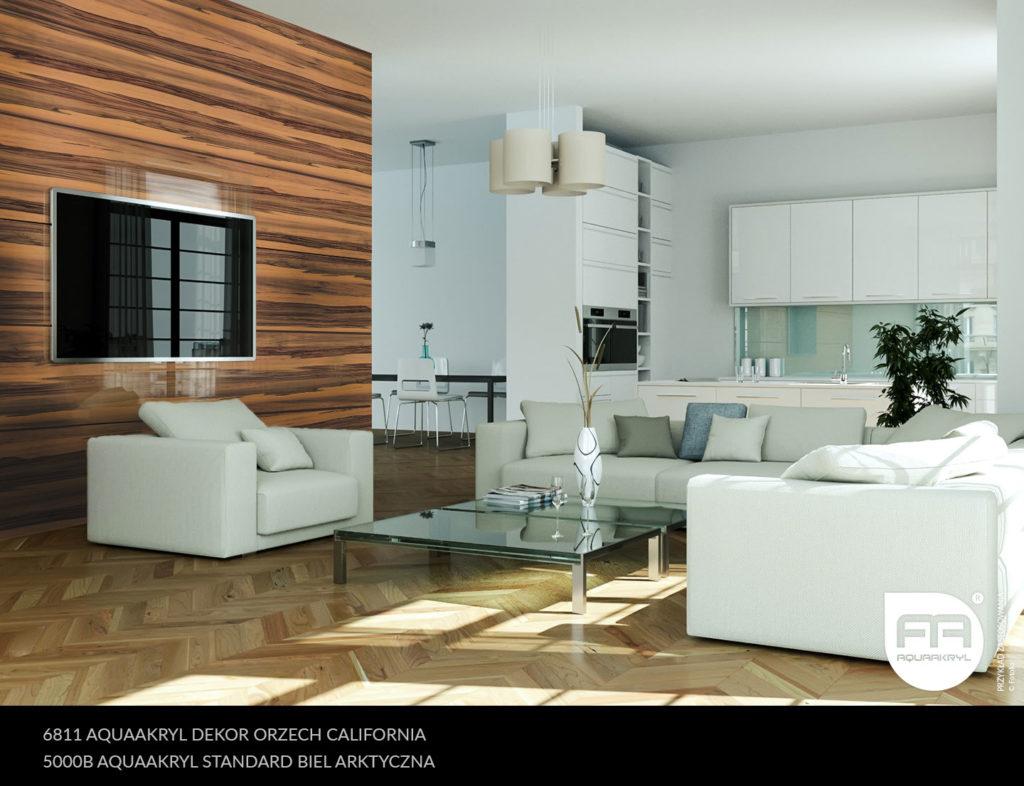 inspiracja front akrylowy aquaakryl orzech california dekor 6811 biel arktyczna standard 5000B